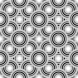 Seamless black and white geometric pattern, simple vector backgr Stock Image