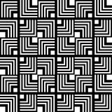Seamless black and white geometric pattern, simple vector stripe Royalty Free Stock Photo