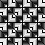 Seamless black and white geometric pattern, simple vector stripe stock illustration