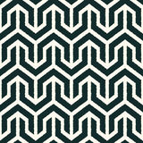 Seamless black and white geometric pattern Stock Image