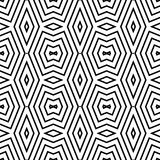 Seamless black and white geometric pattern Stock Photography