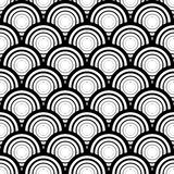 Seamless black and white geometric vector background, simple str Royalty Free Stock Photo
