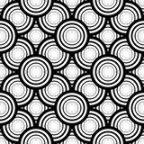 Seamless black and white geometric vector background, simple str Stock Photography