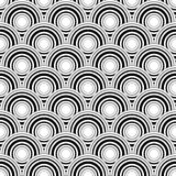 Seamless black and white geometric vector background, simple str Royalty Free Stock Photos