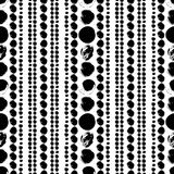 Seamless black and white hand drawn pattern. Vector seamless pattern. Black circles on white background. Abstract hand drawn illustration stock illustration