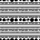 Seamless black and white hand drawn pattern. Vector seamless pattern. Black circles on white background. Abstract hand drawn illustration Royalty Free Stock Image