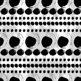 Seamless black and white hand drawn pattern. Vector seamless pattern. Black circles on white background. Abstract hand drawn illustration Royalty Free Illustration