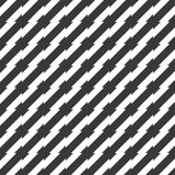 Seamless black and white irregular spiky stripes pattern vector Stock Images