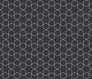 Seamless black and white islamic hexagons and stars vintage pattern vector. Seamless black and white islamic hexagons and stars vintage pattern Royalty Free Stock Photography