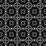 Seamless Black & White Kaleidoscope Damask Royalty Free Stock Photos