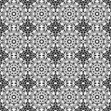 Seamless Black & White Kaleidoscope Damask Stock Photography