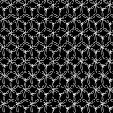 Seamless black and white knots Royalty Free Stock Photos