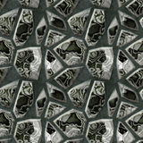 Seamless black and white marble pattern of polygonal stones Stock Image