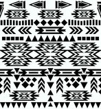 Seamless black and white navajo pattern Stock Photography