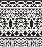 Seamless black and white navajo pattern, vector illustration Royalty Free Stock Photography