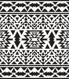 Seamless black and white navajo pattern, vector illustration Stock Image