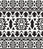 Seamless black and white navajo pattern. Vector illustration Stock Photos