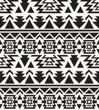 Seamless black and white navajo pattern Stock Images
