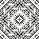 Seamless black and white navajo pattern Stock Photo