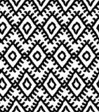 Seamless black and white navajo pattern Royalty Free Stock Photo