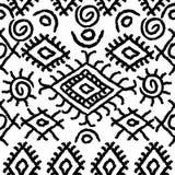 Seamless black and white navajo pattern Stock Photos