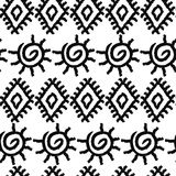Seamless black and white navajo pattern Royalty Free Stock Images