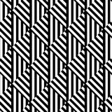 Seamless black and white optical art stripped pattern Stock Photography