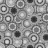 Seamless with black and white oriental motifs Royalty Free Stock Photo