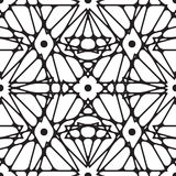 Seamless black and white ornament. Modern stylish geometric pattern with repeating elements Royalty Free Stock Photos