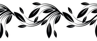 Seamless black and white ornamental border Stock Photos