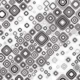 Seamless black-and-white pattern. Stilish retro black-and-white seamless ornament Royalty Free Stock Images