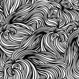 Seamless black and white pattern Stock Photos