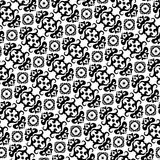 Seamless black and white pattern Royalty Free Stock Photography