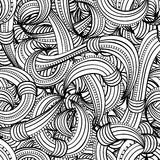 Seamless black and white pattern abstract. Seamless black and white pattern with abstract lines stock illustration