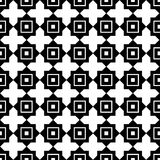 Seamless black and white pattern Stock Photography