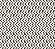 Seamless black and white pattern of arrow shaped elements Stock Images