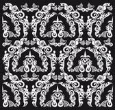 Seamless black and white pattern Royalty Free Stock Photo