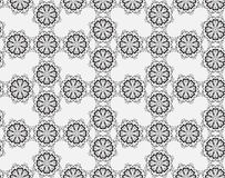 Seamless black and white pattern with carved Arabic pattern Stock Photos