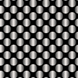 Seamless Black and White Pattern Created from Circle Intersectio Stock Images