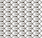 Seamless black and white pattern of cubic forms Royalty Free Stock Images