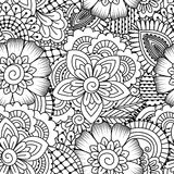 Seamless black and white pattern. Royalty Free Stock Photo