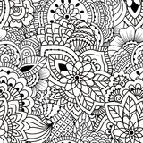 Seamless black and white pattern. Royalty Free Stock Photography