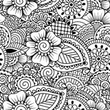 Seamless black and white pattern. Royalty Free Stock Image