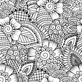 Seamless black and white pattern. Stock Photos