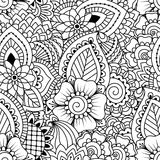 Seamless black and white pattern. Stock Images