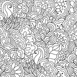 Seamless black and white pattern. Royalty Free Stock Images
