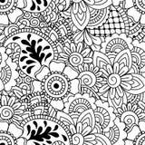 Seamless black and white pattern. Royalty Free Stock Photo