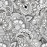 Seamless black and white pattern. Stock Image
