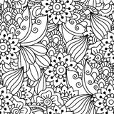 Seamless black and white pattern. Stock Image