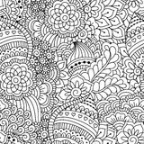 Seamless black and white pattern. Stock Photo